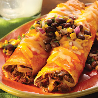 Enchiladas with Black Bean & Corn Salsa