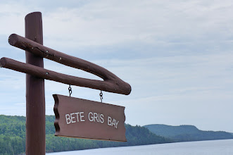 "Photo: Our lunch stop on the east coast of the Keweenaw  Peninsula (from the French Bête grise, ""Gray Beast"")"