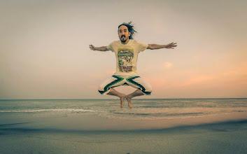 Photo: #AokiJump on the beaches ofPlaya Banca Resort in Panama!