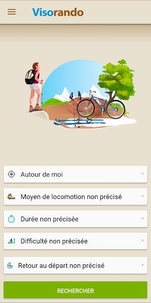 Visorando GPS randonnée Android App Screenshot