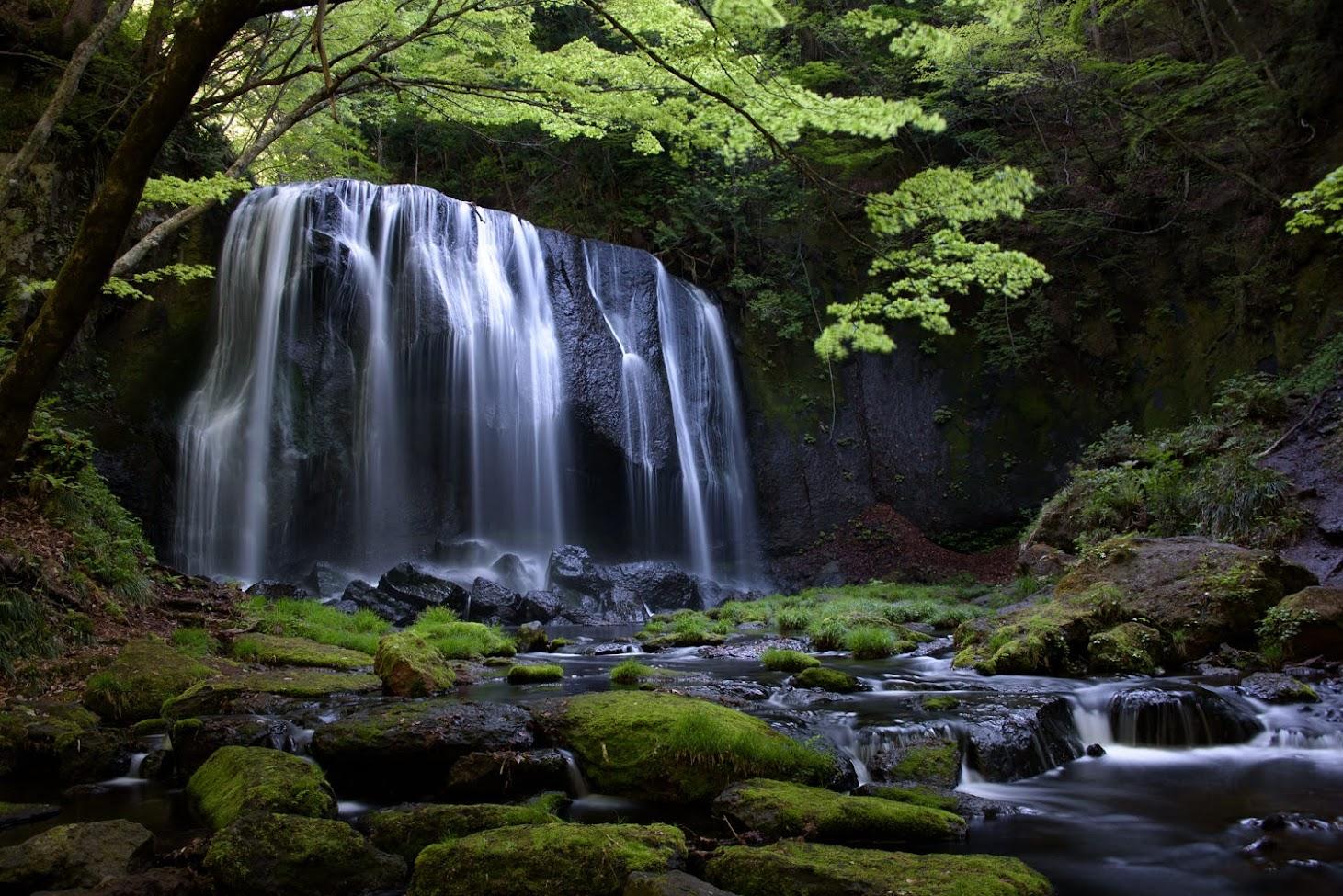 【旅25日目】朝日に煌めく達沢不動滝と想定外のルート変更