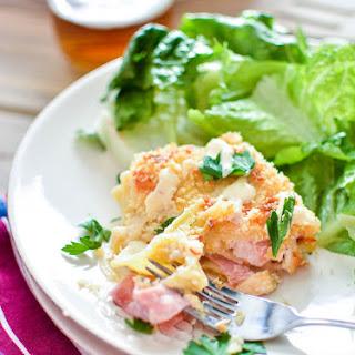 Chicken Cordon Bleu Lasagna Roll Ups