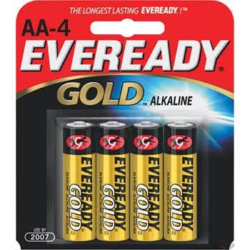 Eveready  Gold AA Alkaline Batteries 4-pack