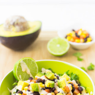 Quinoa and Black Bean Burrito Bowl.