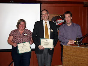 Photo: Here Cathy Godin and Paul Baker accept Chapter Service Awards (from August CRC in Montreal)