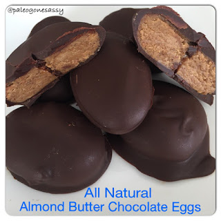 All Natural Almond Butter Chocolate Eggs.