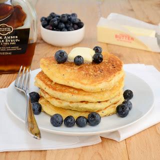 Lemon-Cornmeal Blueberry Pancakes