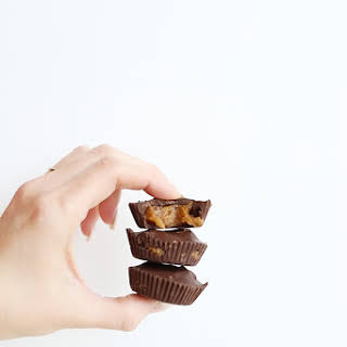 Healthy 3 Ingredient Caramel Peanut Butter Cups.