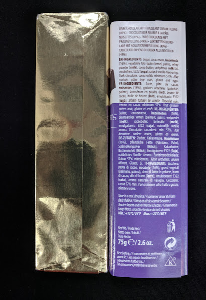 57% cachet hazelnut bar