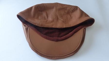 BB Läderkeps lammskinn brun
