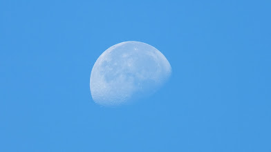 Photo: So happy with this shot of a daytime moon!