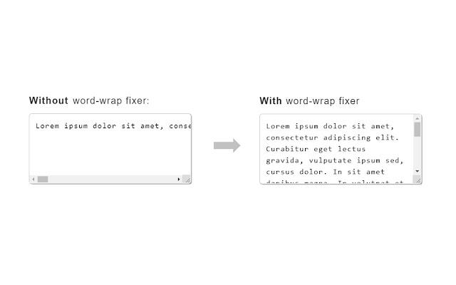 Text area word-wrap fixer