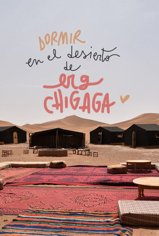 dormir en el desierto de Erg Chigaga