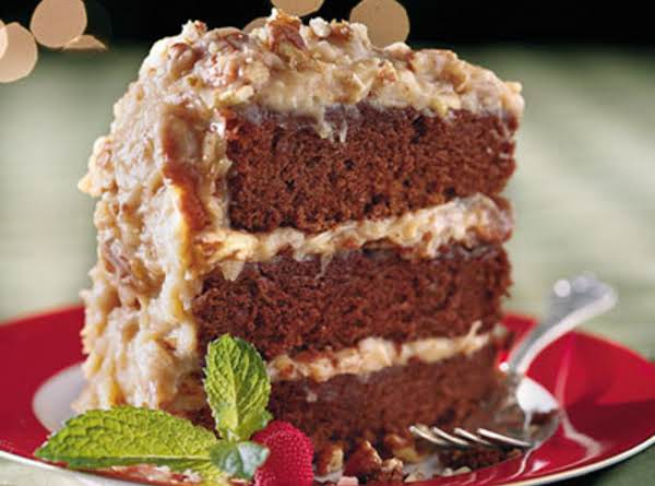 Chocolate Velvet Cake With Coconut-pecan Frosting Recipe