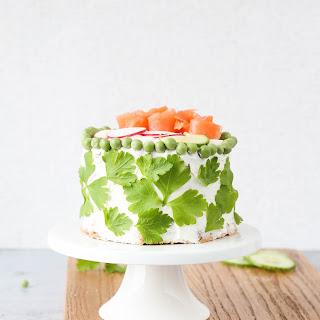 Swedish Smörgåstårta Sandwich Cake.