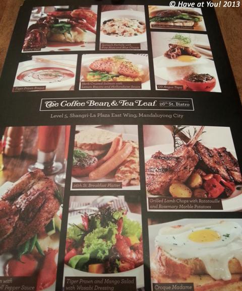 CBTL menu