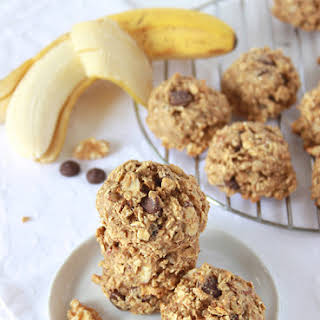 Healthy Banana Nut Dark Chocolate Chip Cookies.