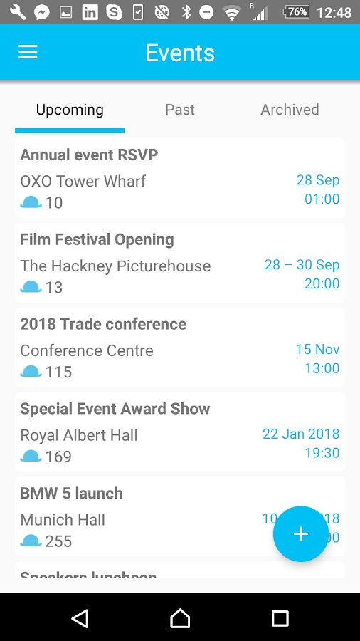 Guest List Event Check In App - Snafflz- screenshot