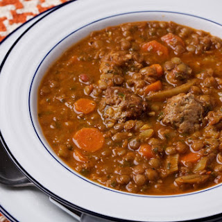 Lamb and Lentil Soup With Lamb Meatballs