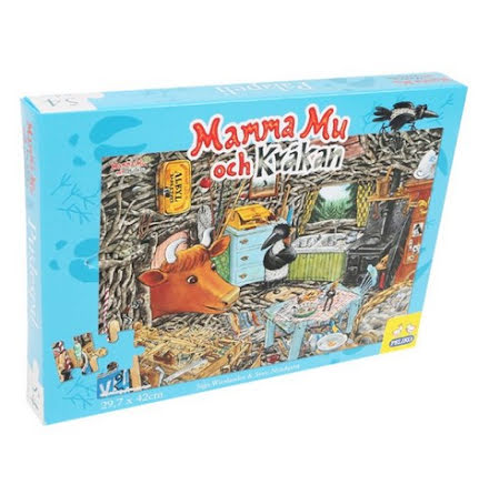 Mamma Mu & Kråkan Pussel A3, 54-bitar