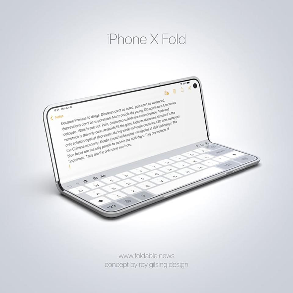 Sforum - Trang thông tin công nghệ mới nhất iPhone-X-Fold-concept Mời chiêm ngưỡng ý tưởng iPhone X Fold màn hình gập với thiết kế đẹp khó cưỡng