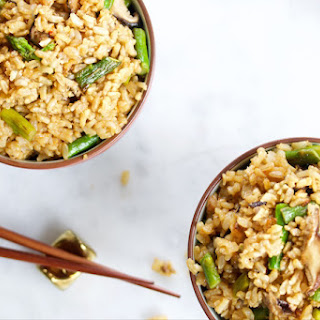 Fried Rice With Shiitakes And Asparagus