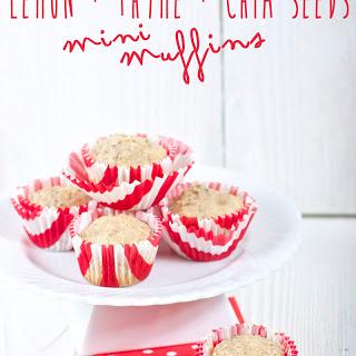 Lemon + Thyme + Chia Seed Mini Muffin Recipe