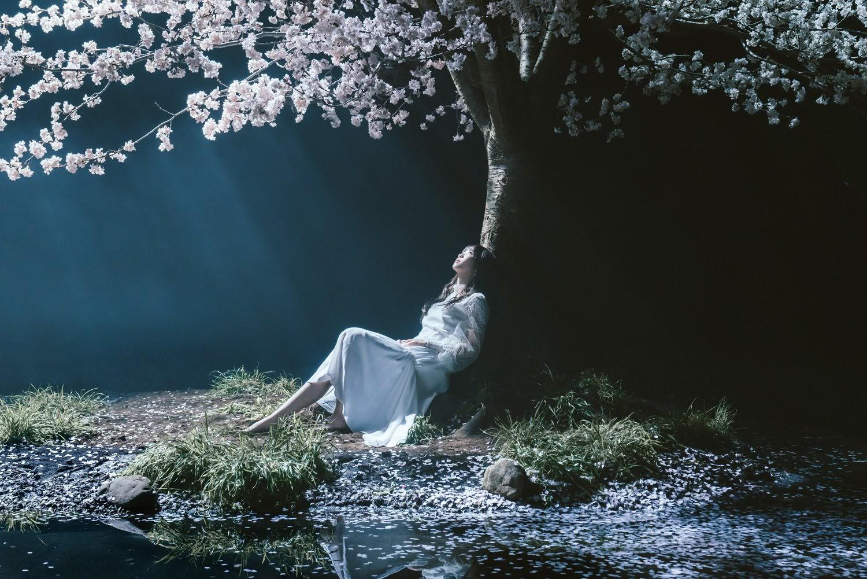 "Imagem promocional do single ""Haru wa Yuku/marie""."