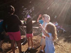 Photo: Bubbles at Preschool Camping