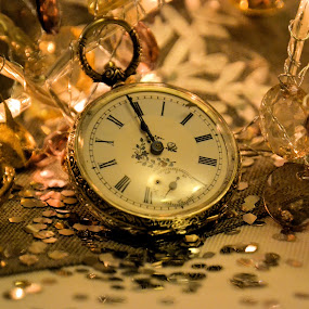 NYE by Heather Aplin - Public Holidays New Year's Eve ( sparkles, tinsel, watch, new year's eve, antique,  )