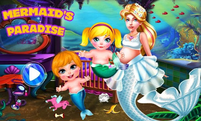 Mermaid's Paradise-Baby Care - screenshot