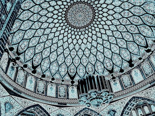 dubai-ibn-battuta-mosque.jpg - The stunning interior dome of the Ibn Battuta Mosque in Dubai.