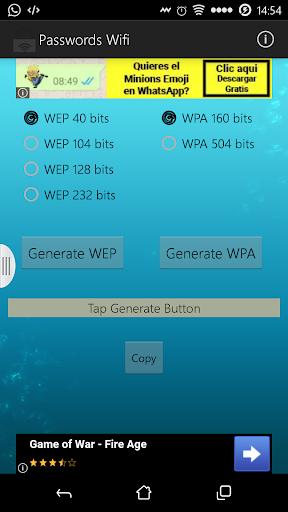 Generador Contraseñas Wifi