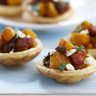 Savory Pumpkin and Chorizo Tarts.