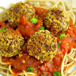 Lentil Quinoa Hemp Seed Meatballs [Vegan, Gluten-Free].