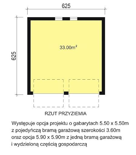 G2-3.12 - Rzut garażu