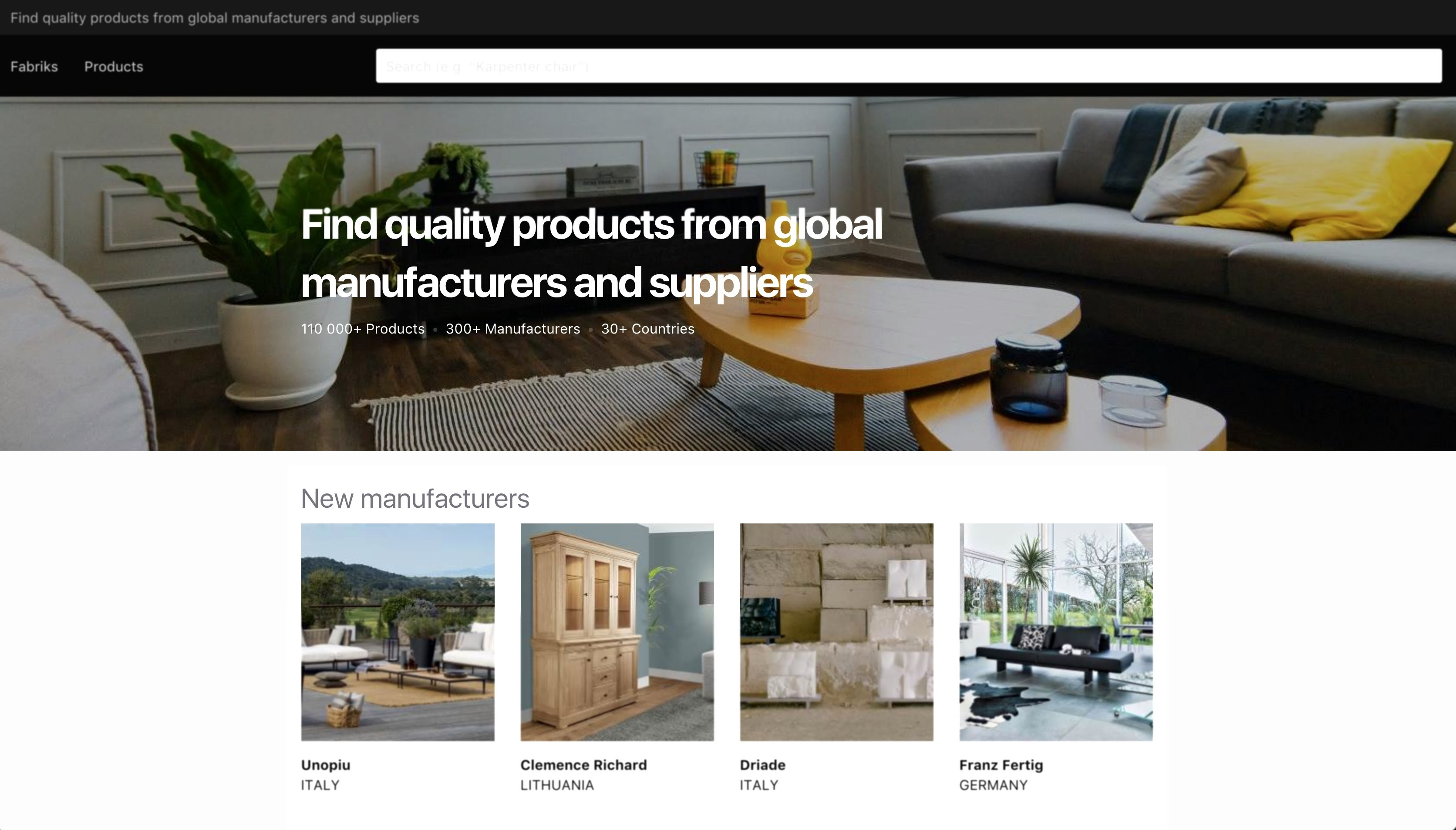 Fabriks Find quality products from global manufacturers and suppliers