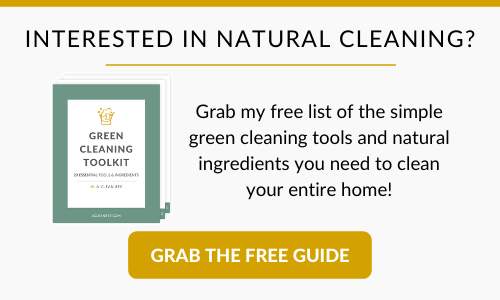 Free List of Green Cleaning Tools and Ingredients
