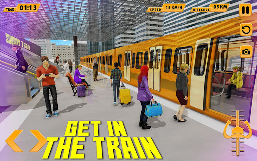 Modern Train Driving Simulator: City Train Games 2.4 screenshots 1