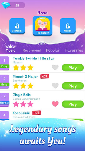 Magic Castle Piano Tiles:  Free Rhythm Music Games screenshot 3