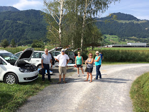 Photo: Our arrival at Reichenburg RC field. Our first team practice session.