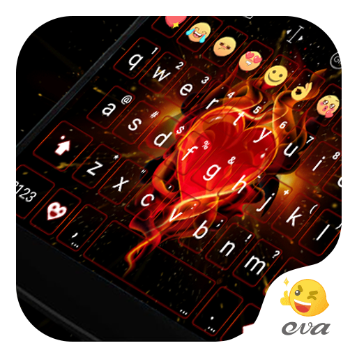 Blink Red Heart Emoji Keyboard 遊戲 App LOGO-硬是要APP