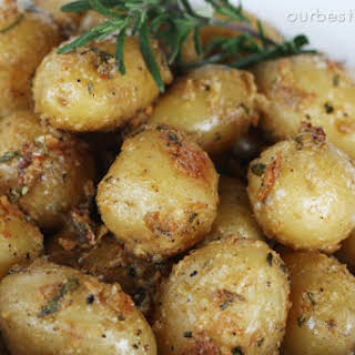 Garlic-Rosemary Roasted Baby Potatoes.