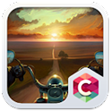 Sunset Road Theme C Launcher icon