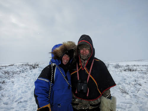 Anna and Hendrik during our tundra picnic on Richard Island