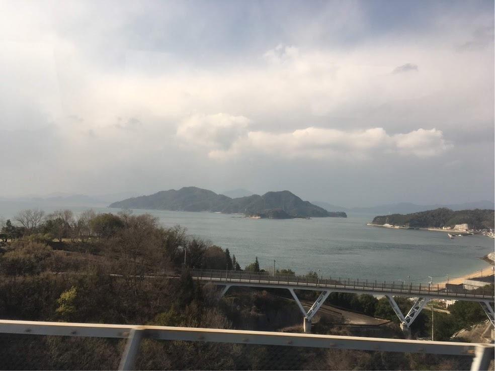 しまなみ海道序盤の大島からの景観
