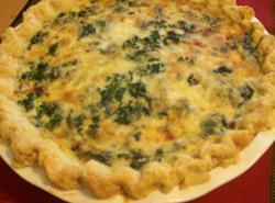 Spinach, Asiago, Artichoke Quiche Recipe