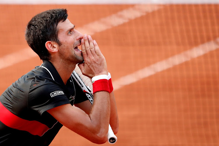 Serbia's Novak Djokovic reacts during his quarter final match against Italy's Marco Cecchinato at the French Open in Paris, France, June 5 2018. Picture: REUTERS