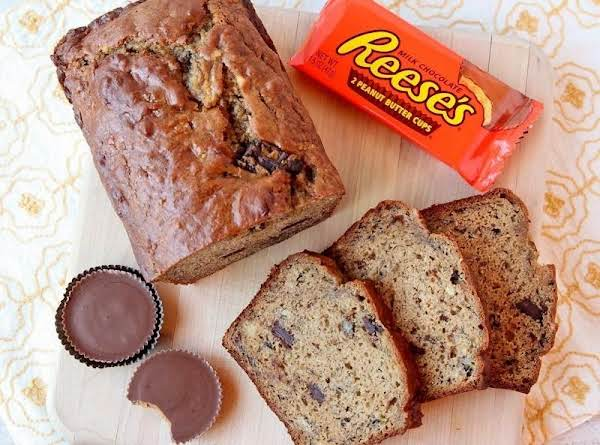 Peanut Butter Cup Banana Bread Recipe