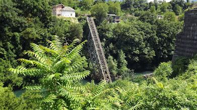 Photo: Neretvába robbantott  híd /Jablanica/
